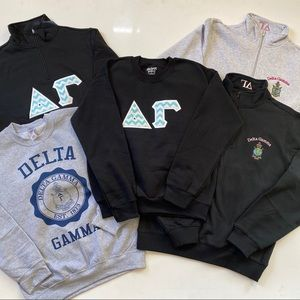 5 Delta Gamma Sorority Sweatshirts Sz Small
